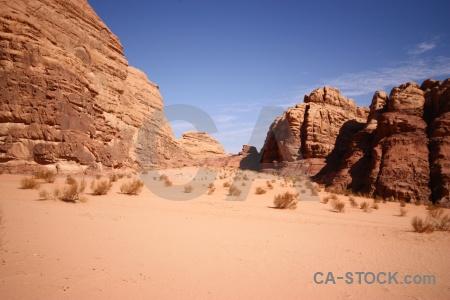 Sand wadi rum middle east landscape jordan.
