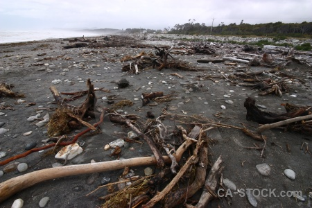 Sand water sea drift wood new zealand.
