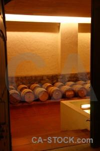 Santiago cellar inside south america vineyard.