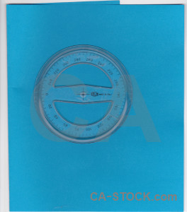 Scientific blue protractor cyan object.