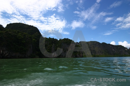 Sea asia water phang nga bay cloud.
