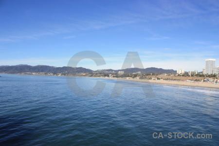 Sea beach blue water.