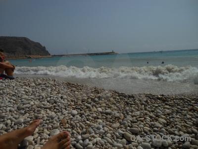 Sea beach europe stone spain.