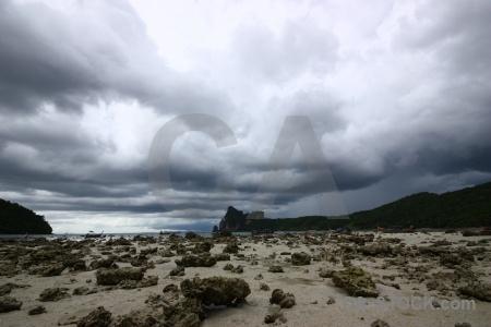 Sea beach loh dalam bay mountain southeast asia.