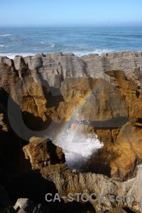 Sea blowhole west coast rock dolomite point.
