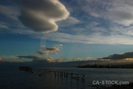 Sea cloud water chile sky.