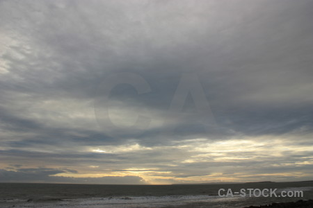 Sea coast sky cloud water.