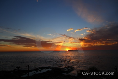 Sea colonia del sacramento sunset rio la plata uruguay.