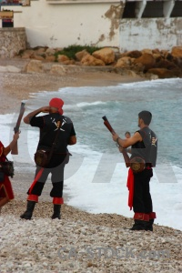 Sea costume beach spain weapon.