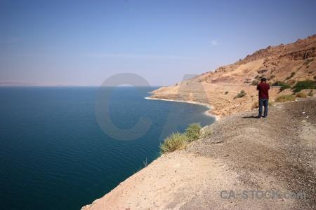 Sea dead sea rock middle east asia.