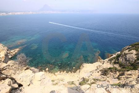 Sea europe spain water rock.