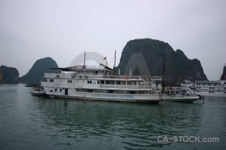 Sea ha long bay water vietnam limestone.