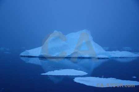 Sea iceberg adelaide island ice antarctica.