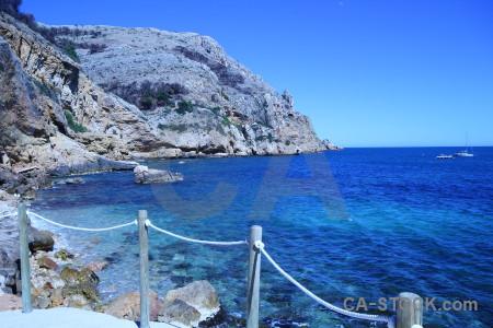 Sea javea europe rock blue.