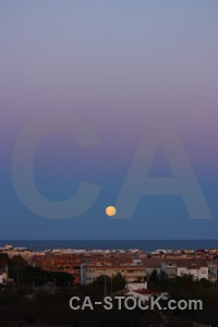 Sea javea spain moon water.
