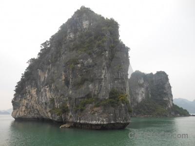 Sea limestone vietnam island asia.