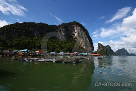 Sea phang nga bay thailand ko panyi tropical.