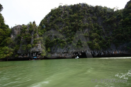 Sea phang nga bay water cloud limestone.