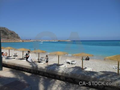 Sea sky beach spain water.