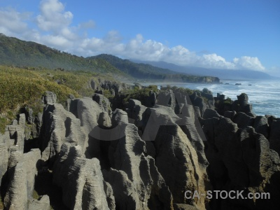 Sea sky pancake rocks cloud punakaiki.