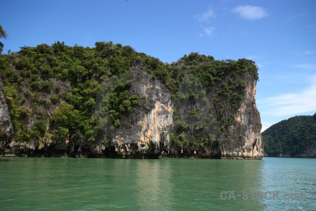 Sea southeast asia phang nga bay cliff sky.