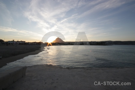 Sea sun cloud javea sunset.