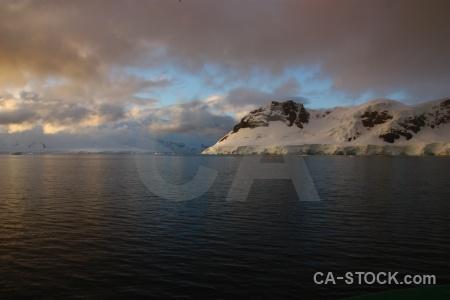 Sea sunset antarctica cruise cloud landscape.