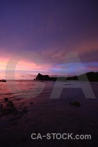 Sea sunset phi island asia beach.