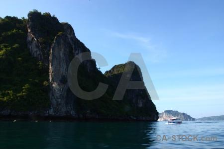 Sea thailand limestone ko phi leh cliff.