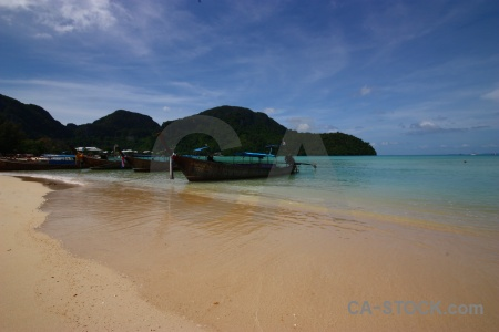 Sea tropical ko phi don boat island.
