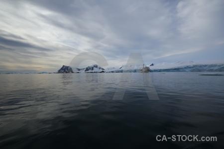 Sea vehicle sky antarctica snow.