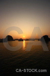 Sea vietnam sky sunset ha long bay.