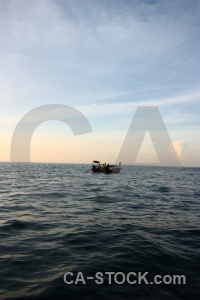 Sea water boat asia thailand.