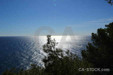 Sea water coast javea spain.