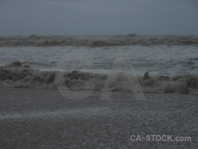 Sea wave water beach south island.