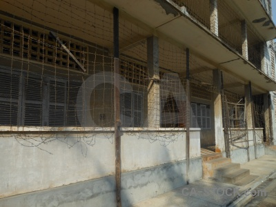 Security prison 21 southeast asia barbed wire phnom penh cambodia.