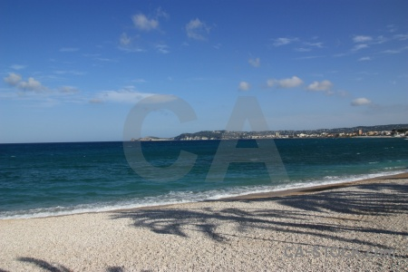 Shadow water stone europe beach.