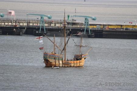 Ship gray vehicle.