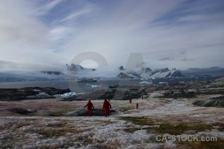 Ship petermann island sky french passage antarctica.