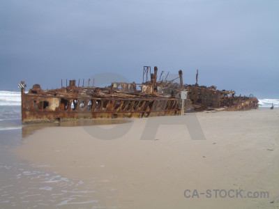 Shipwreck wreck vehicle ship maheno.