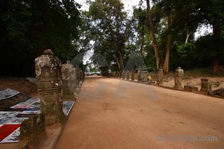 Siem reap angkor ruin stone buddhism.