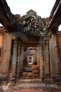Siem reap asia buddhism pillar angkor.