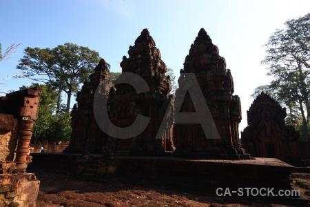 Siem reap asia buddhist ruin sky.