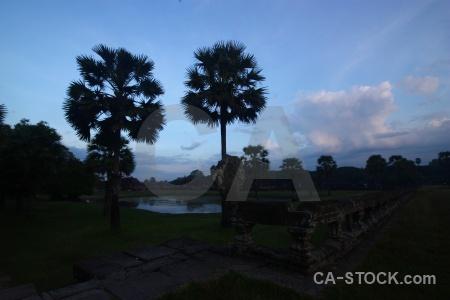 Siem reap asia southeast khmer silhouette.