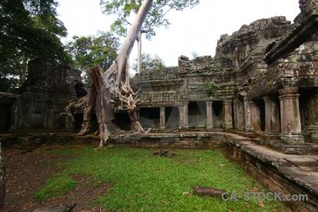Siem reap southeast asia preah khan unesco ruin.