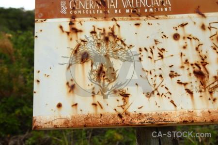 Sign rust orange brown texture.