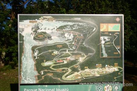 Sign south america iguazu falls map argentina.
