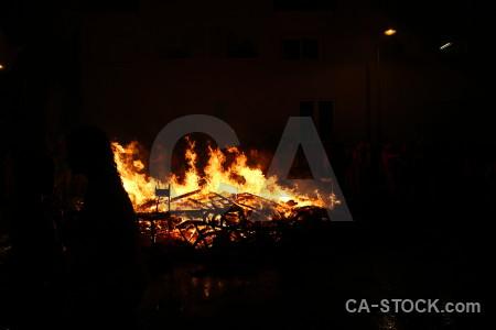 Silhouette fire javea flame spain.
