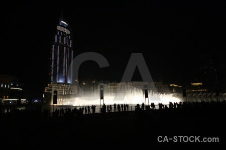 Silhouette night fountain asia uae.
