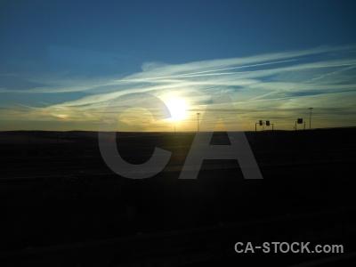 Silhouette sunset sun spain europe.